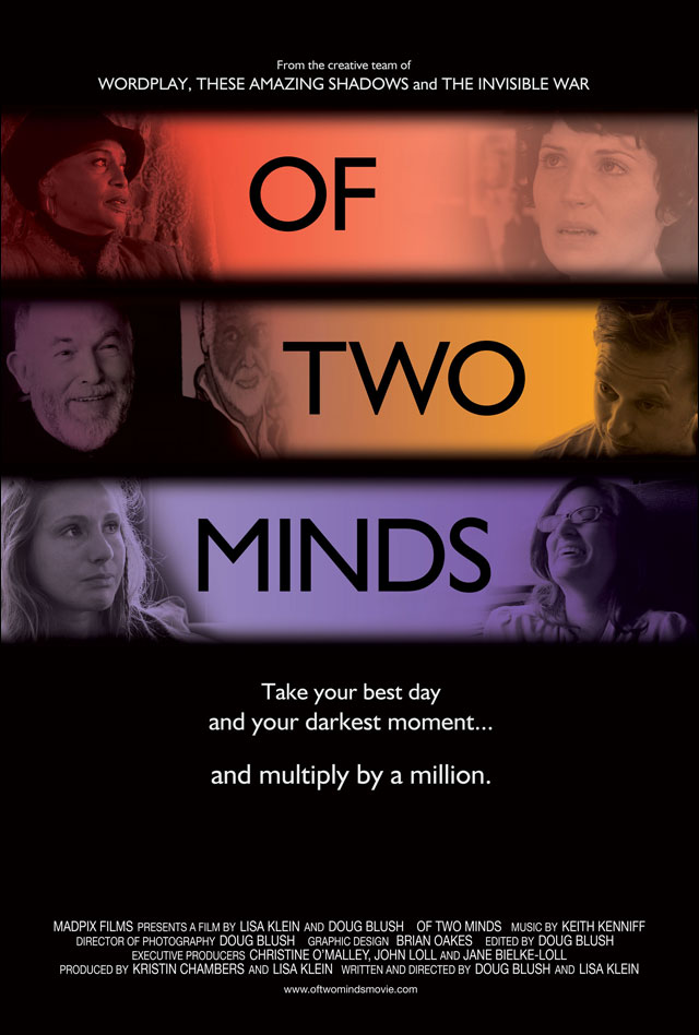 Following a successful run on the festival circuit, Of Two Minds will premiere in Toronto at the Carlton Cinema on Friday, March 1st.
